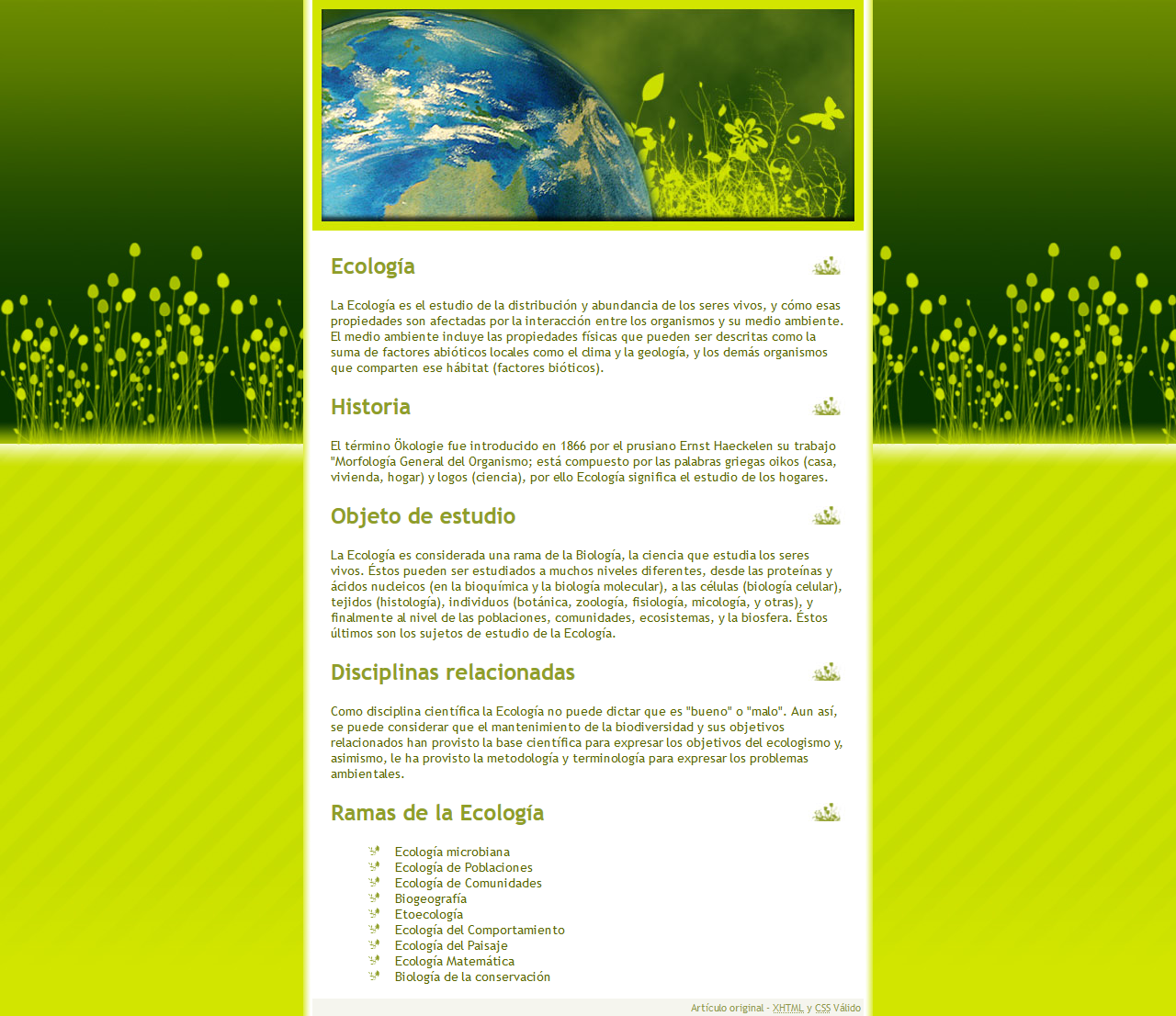 Competencia Xhtml + Css - Forosdelweb - Xhtml 1.0 Strict, Css, Accesibilidad, Photoshop. Año 2007