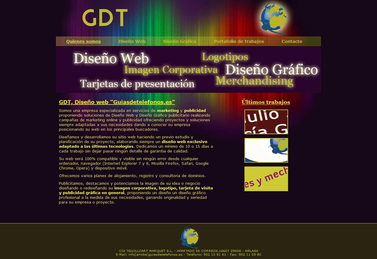 Diseño Web Diseño Gráfico - Guiasdetelefonos.es - Html, Css, Javascript, Jquery, Photoshop. Año 2008