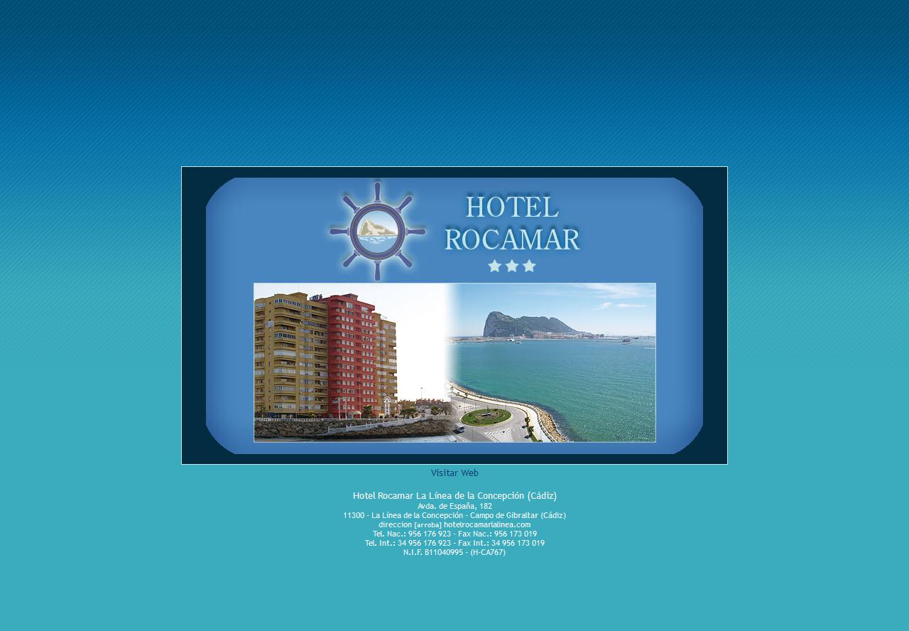 Hotel Rocamar La Línea de la Concepción Cádiz. Xhtml 1.0 Strict, Css, Php, Mysql, Wordpress, Dreamweaver, Photoshop. - Año 2007
