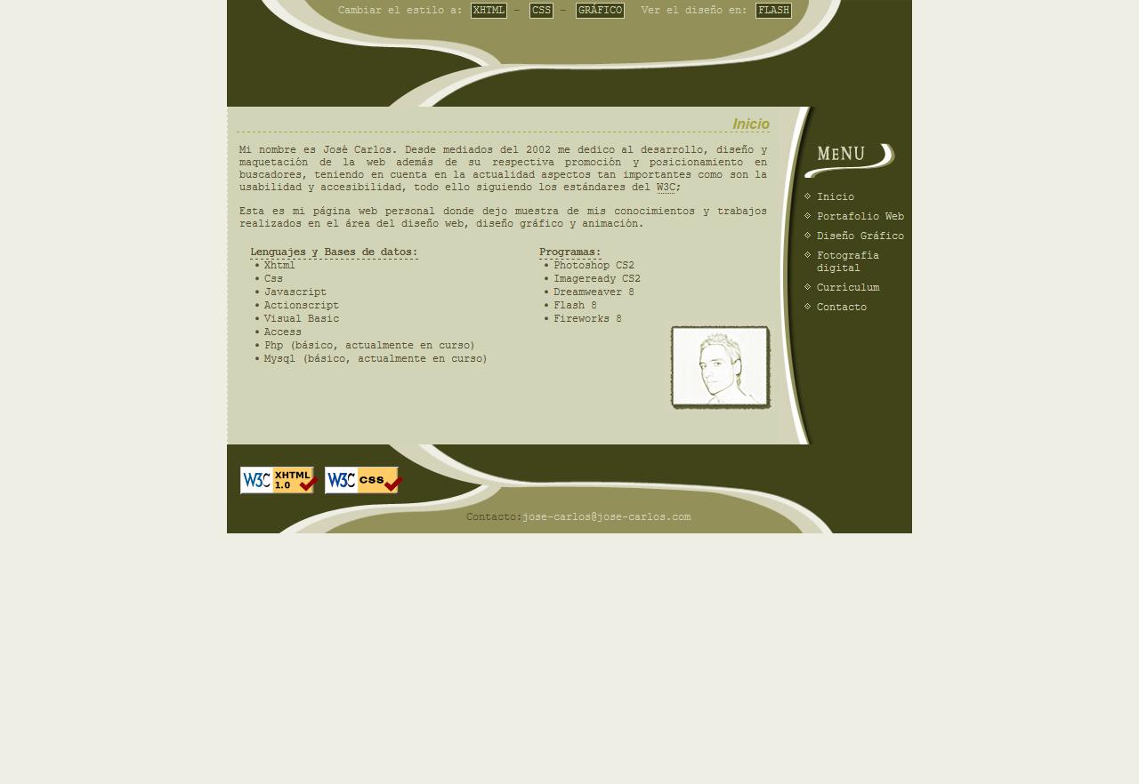 José Carlos Almansa Pérez - Diseñador de páginas webs CSS. Año 2005