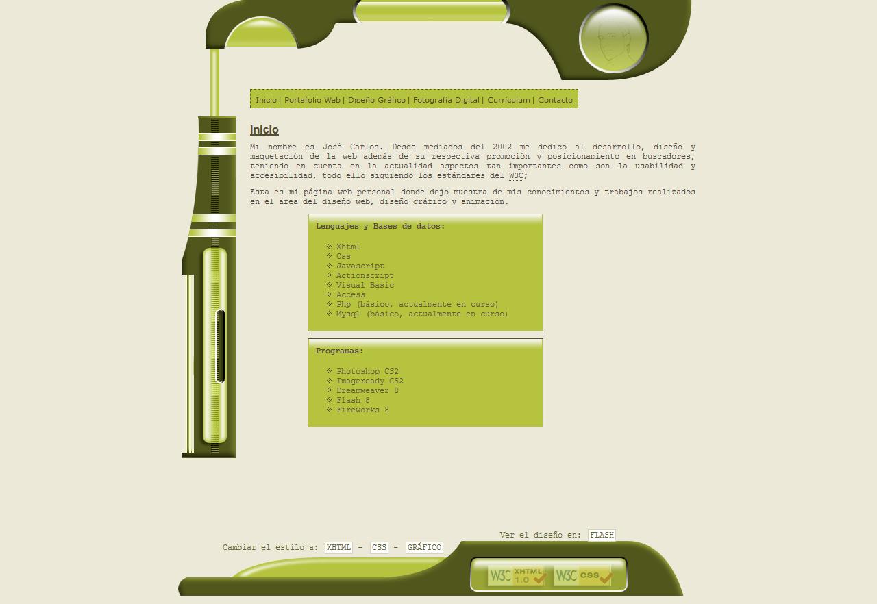 José Carlos Almansa Pérez - Diseñador de páginas webs - Diseño gráfico. Año 2005