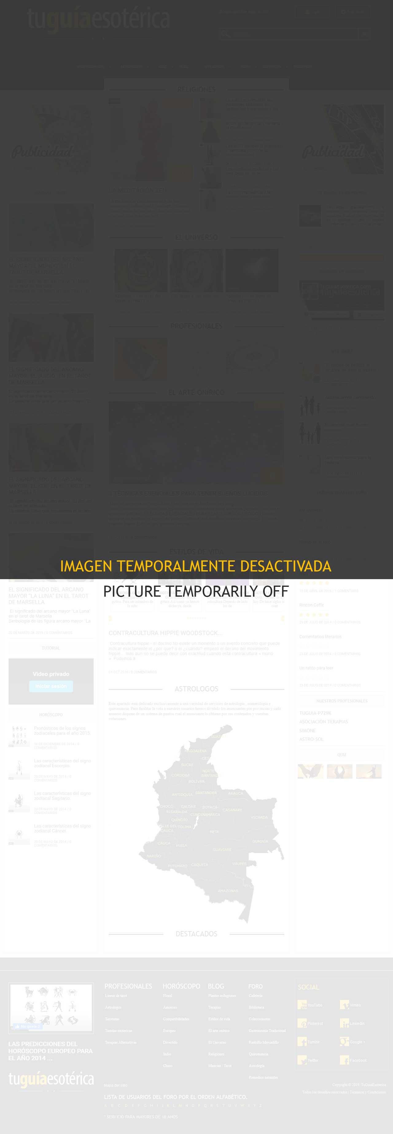 Tu Guía Esotérica - Comunidad de esoterismo online. (No diseñada, sólo mejoras y corrección de errores en el diseño y añadidos de mapas vectoriales en formato SVG), Rediseño de una versión anterior del código y programación desde 0 con Html5, CSS3, Javascript, Jquery, Ajax, Php7, Mysql, Sublime Text, Photoshop, Inkscape. Trabajo realizado como freelancer para S.C. De Line S.R.L. Septiembre 2017 a Marzo 2019